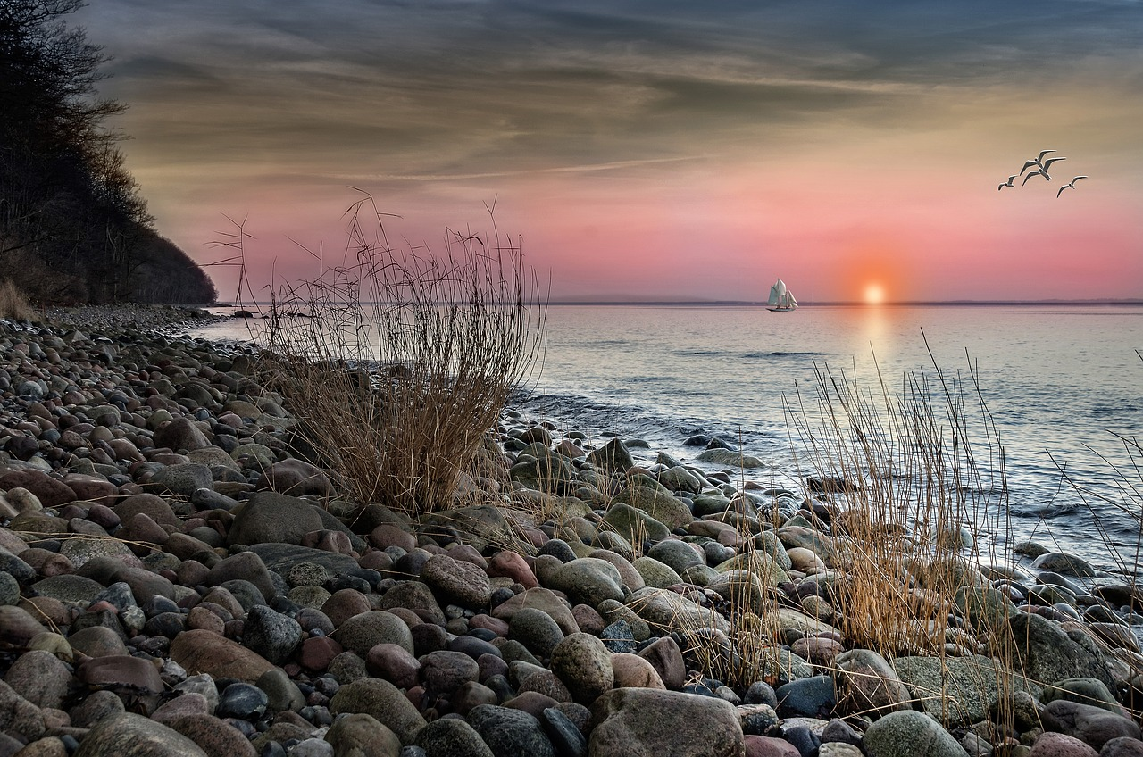 Sonnenuntergang Rügen